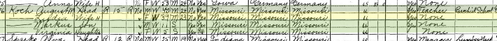 August Koch 1930 census Troy IL