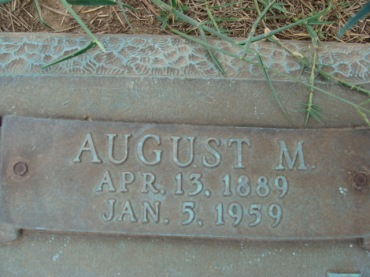 August Koch gravestone Garden of Memories Sikeston MO