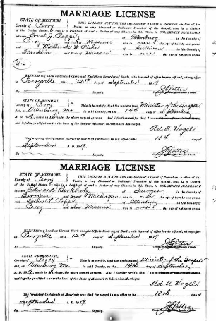 Berkholz Poppitz marriage license