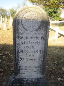 Bernhardt Palisch gravestone Immanuel Altenburg MO