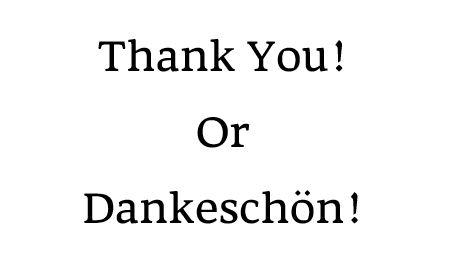 Dankeschoen