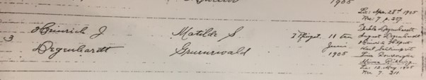 Degenhardt Gruenwald marriage record Trinity Altenburg MO