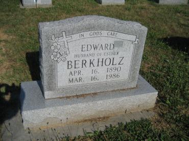 Edward Berkholz gravestone Trinity Altenburg MO