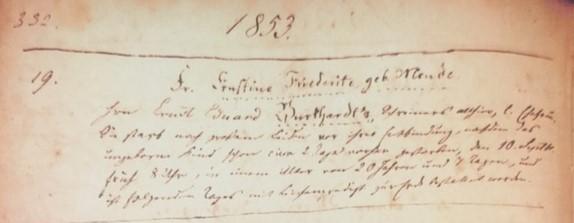 Ernestine Mende Burkhardt death record Trinity Altenburg MO