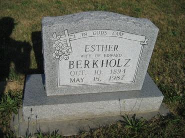 Esther Berkholz gravestone Trinity Altenburg MO