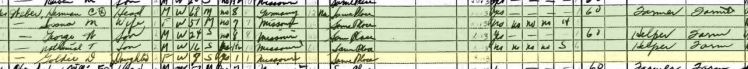Goldie Weber 1940 census Brazeau Township MO