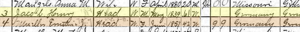 Henry Jacob 1900 census Brazeau Township MO