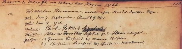 Herman Schuessler baptism record Trinity Altenburg MO