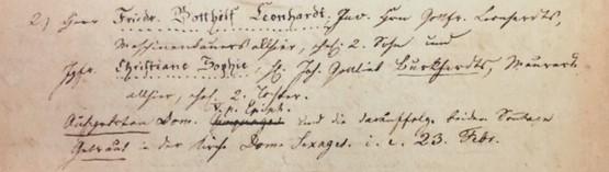 Leonhardt Burkhardt marriage record Trinity Altenburg MO
