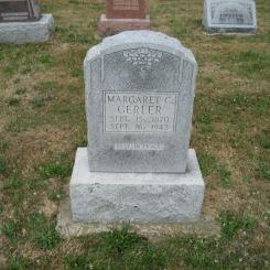 Margaret Gerler gravestone Trinity Altenburg MO