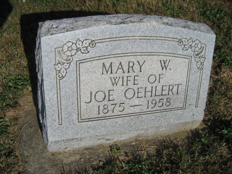 Mary Oehlert gravestone Trinity Altenburg MO