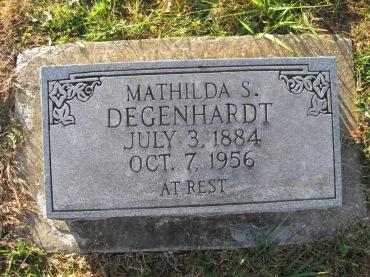 Mathilda Degenhardt gravestone - Trinity Altenburg MO