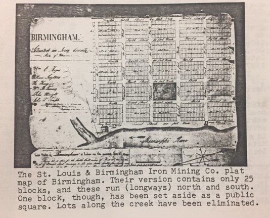 Plat map of Birmingham 2