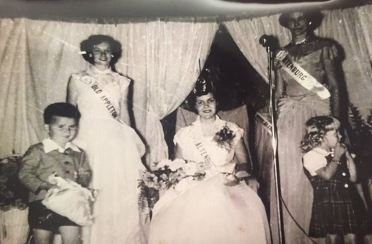 Queen Goldie Weber and her court 1951