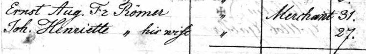 Roemer names passenger list Olbers 1