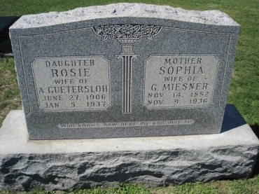 Sophia Miesner gravestone Christ Jacob IL