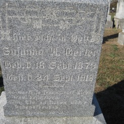 Susanna Gerler gravestone Trinity Altenburg MO