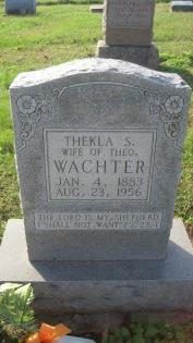 Thekla Wachter gravestone Trinity Shawneetown MO