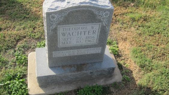 Theodore Wachter gravestone Trinity Shawneetown MO