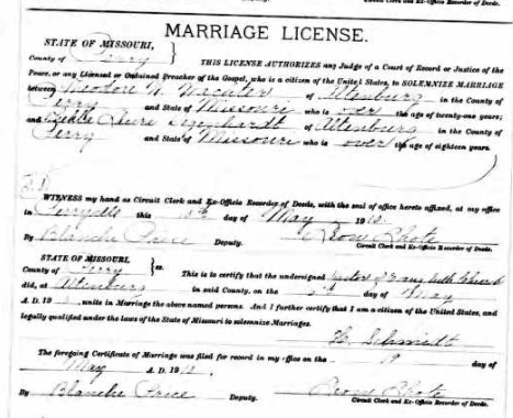 Wachter Degenhardt marriage license