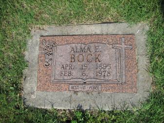 Alma Bock gravestone Grace Uniontown MO