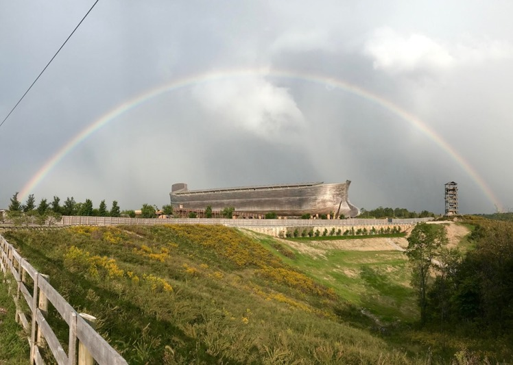 Ark Encounter with rainbow