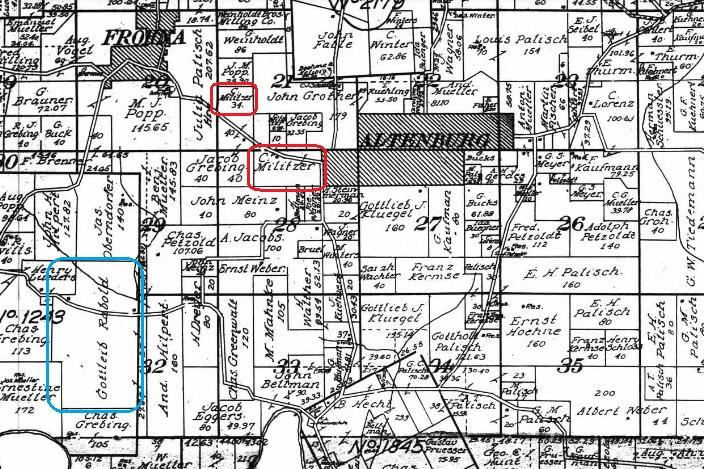 Christian Militzer land map 1915
