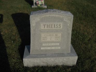 Clara Theiss gravestone St. Paul's Wittenberg MO