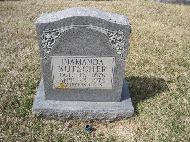 Diamanda Kutscher gravestone Immanuel New Wells MO