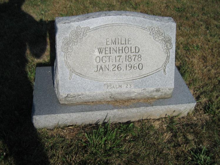 Emilie Weinhold gravestone Trinity Altenburg MO