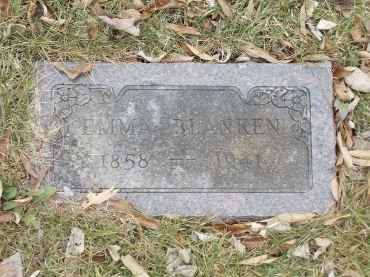 Emma Blanken gravestone Koenig Lutheran Cemetery Wentzville MO