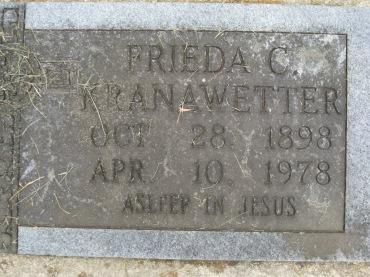 Frieda Kranawetter gravestone Concordia Frohna MO