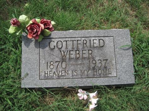 Gottfried Weber gravestone Zion Pocahontas MO