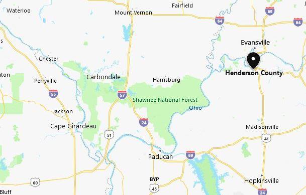 Henderson County Kentucky map