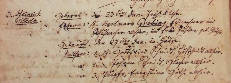 Henry Grebing baptism record Trinity Altenburg MO