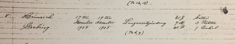 Henry Grebing death record Trinity Altenburg MO