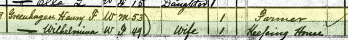 Henry Gruenhagen 1880 census South River Marion County MO