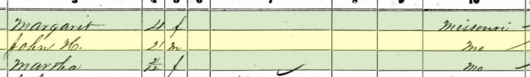 John Blanken 1860 census Brazeau Township MO