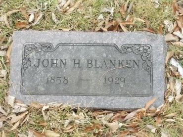 John Blanken gravestone Koenig Lutheran Cemetery Wentzville MO