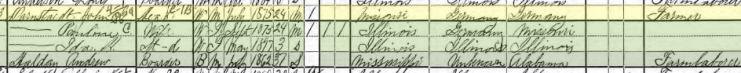 John Darnstaedt 1900 census Fountain Bluff Township IL