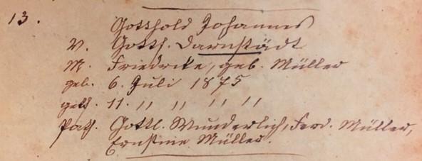 John Darnstaedt baptism record Trinity Altenburg MO