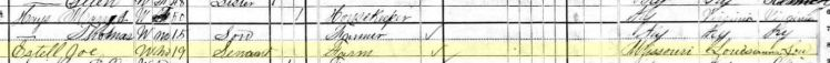 Joseph Estel 1880 census Smiths Mill Township KY