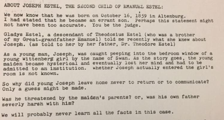 Joseph Estel bio 2