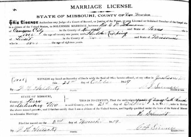 Lohmann Kipping marriage license