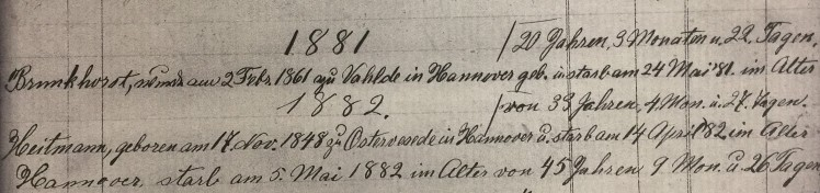 Maria Heitmann death record 2 Christ Jacob IL