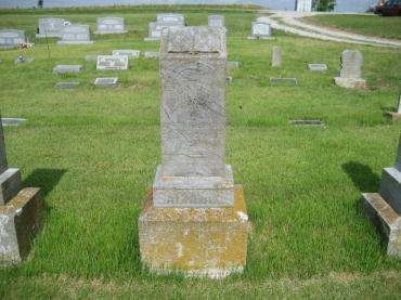 Martin Bachmann gravestone Zion Crosstown MO