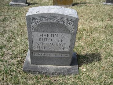 Martin Kutscher gravestone Immanuel New Wells MO