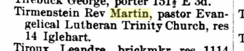 Martin Tirmenstein 1885 St. Paul MN city directory