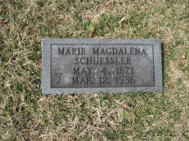 Mary Schuessler gravestone Immanuel New Wells MO