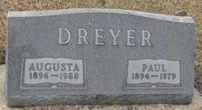 Paul and Augusta Dreyer gravestone Stanton NE